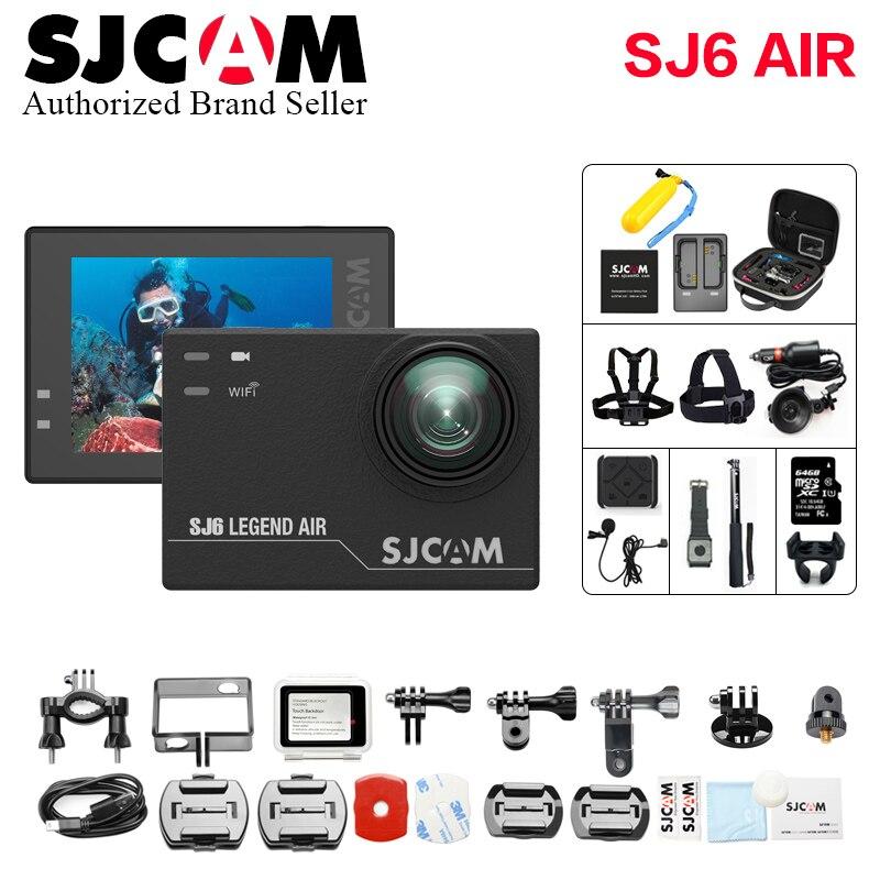 100% Original SJCAM SJ6 Legend Air Gyro 4K Wifi Action Helmet Sports DV Camera Waterproof NTK96660 2.0 Touch Screen wi fi cam