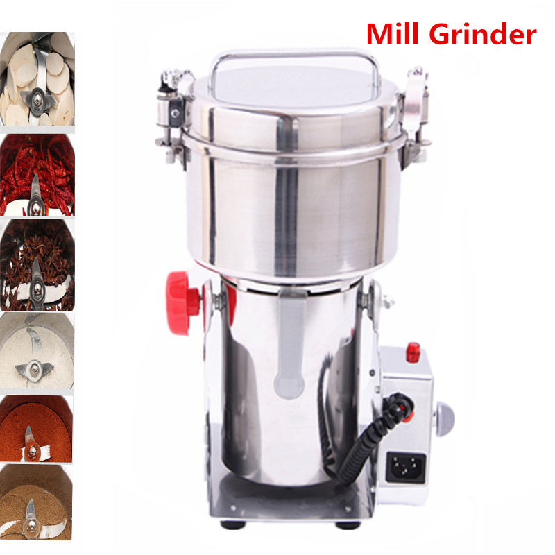 Hot Sale Stainless Steel Grains Mini Grinder Household Electric Herbal Mill Ultra - Fine Powder Grinding Machine high quality 300g swing type stainless steel electric medicine grinder powder machine ultrafine grinding mill machine