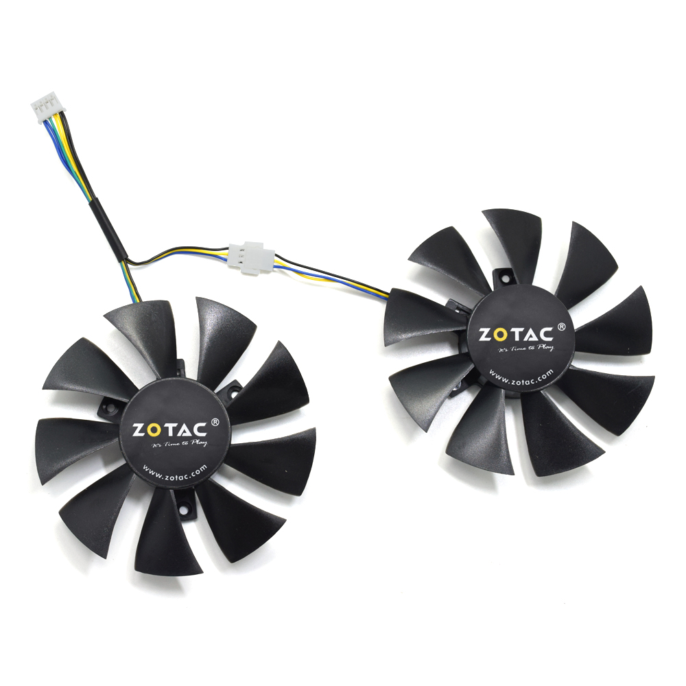 New 85MM GA91S2H DC 12V 0.35A Cooler Fan Replacement For ZOTAC GeForce GTX 1060 AMP Edition GTX 1070 Mini Graphics Card Cooling