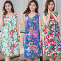 New Summer Women's Nightgowns Sleeveless sleeveless Dress Girls Sleepwear Loose Nightgowns Cartoon Bear Printed Sleepwear