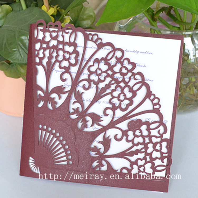 any logo Theme and Folk Art Style paper material fan wedding ...