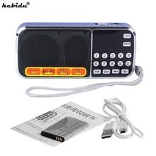 Kebidu Mini altavoz portátil HIFI L 088, reproductor de Audio MP3, amplificador de linterna, Micro SD, TF, Radio FM
