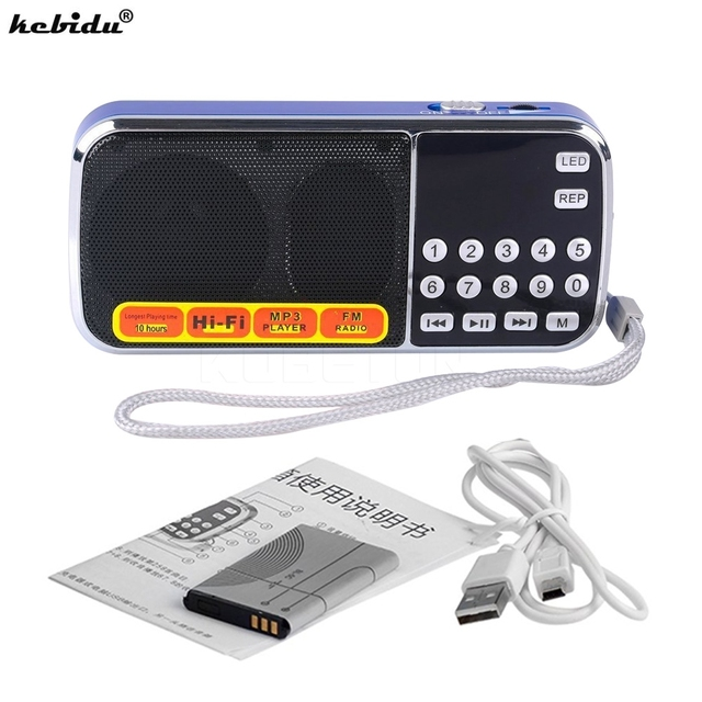 kebidu Fashion L 088 Portable HIFI Mini Speaker MP3 Audio Player Flashlight Amplifier Micro SD TF FM Radio