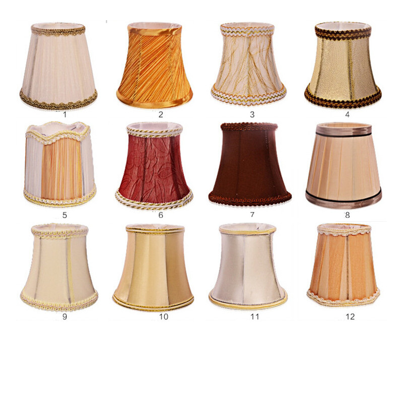 E14 Candle bulb' fabric lampshade pendant light Chandelier ...