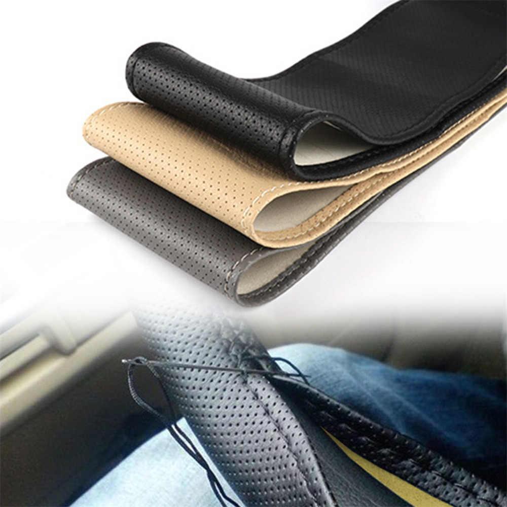 Couvre-volant en cuir pour camion de voiture bricolage avec aiguilles et fil 5.8