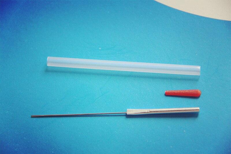 100 pcs EACU disposable aucpuncture edge with tube aluminum handle knife beauty massage needle 100 pcs eacu high quality disposable aucpuncture edge needle with tube aluminum handle knife needle painless massage needle