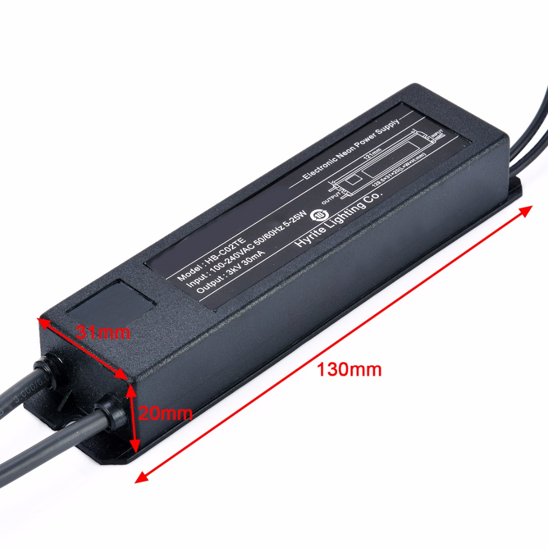 Стекло неоновый свет знак электронный трансформатор прочный неоновые Питание HB-C02TE 3KV 30mA 5-25 Вт Mayitr освещение аксессуары