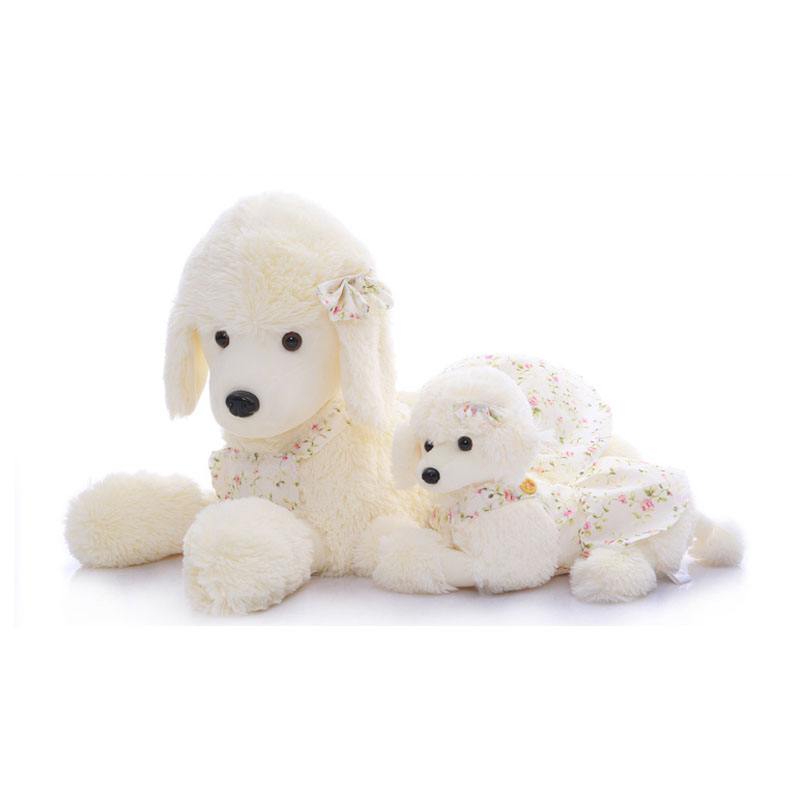 Stuffed Animal Dog Pillow : 50cm emulational toy plush stuffed white dog dalmatians lying posture artificial animal 1pcs top ...