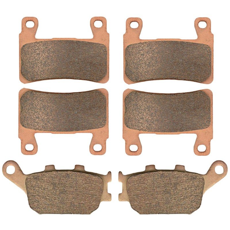 Motorcycle Front and Rear Brake Pads for HONDA CB1300 Super Four 2003-2009 Sintered Brake Disc Pad Kit motorcycle front and rear brake pads for yamaha xvs 1300 ctw ctx v star 1300 tourer 2007 2010 black brake disc pad