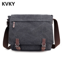2018 Men Bag Fashion Canvas Messenger Bags High Quality Shoulder Bags Solid Male Crossbody Bags Man