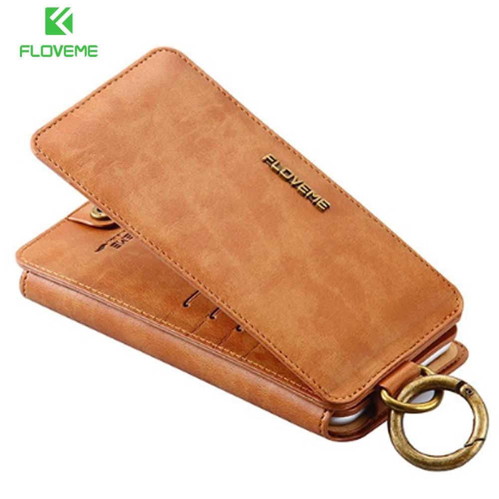Цена за Floveme для iPhone 6 6 S 7 Plus Бизнес слот для карт кошелек Чехол кожаный чехол Обложка сумка для iPhone 7 плюс 6 S плюс телефоны Чехлы
