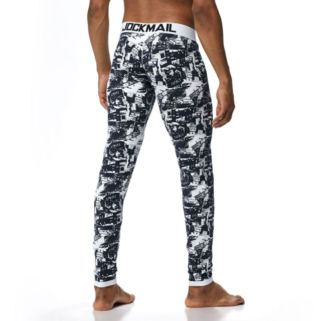JOCKMAIL Brand Men Long Johns Cotton Printed leggings Thermal Underwear cueca Gay Men Thermo Underwear Long Johns Underpants