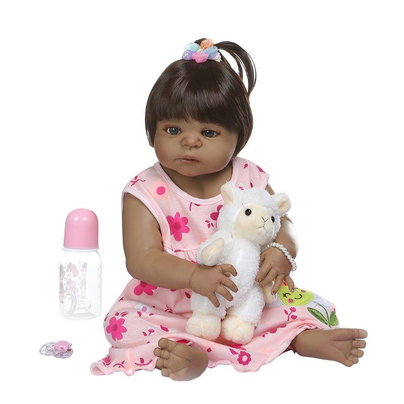 20in réaliste Reborn poupée souple pleine Silicone vinyle nouveau-né bébés singe dessin animé réaliste fait à la main jouet enfants cadeaux d'anniversaire