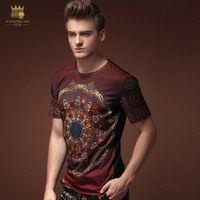 Free Shipping Summer Men S Male Fashion Casual 2016 Short Sleeved Summer T Shirt Printing Personality