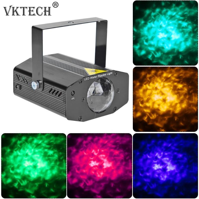 Mini RGB LED Water Ripples Stage Light Laser Projector KTV DJ Disco Lamp Stage Lighting Effect Christmas Party Decoration