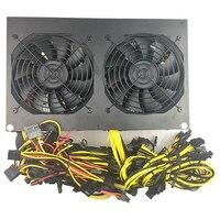 3300 Вт PC Питание 12 GPU 6 + 2PIN горно Miner машины 84 264 В 110 В 3300 добыча питание 1050ti Пико БП компьютера Мощность