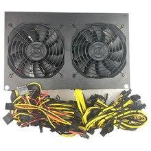 3300 Вт PC Питание 12 GPU 6 + 2PIN горно Miner машины 84-264 В 110 В 3300 добыча питание 1050ti Пико БП компьютера Мощность