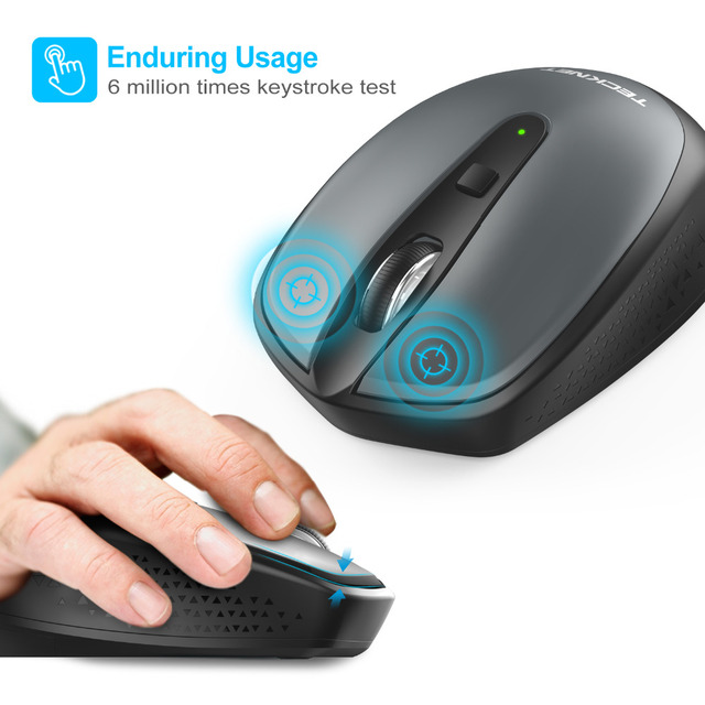 TeckNet Wireless Mouse with USB Nano Receiver Omni Mini 2.4GHz Mice 18 Month Battery Life 3 Adjustable 2000/1500/1000DPI