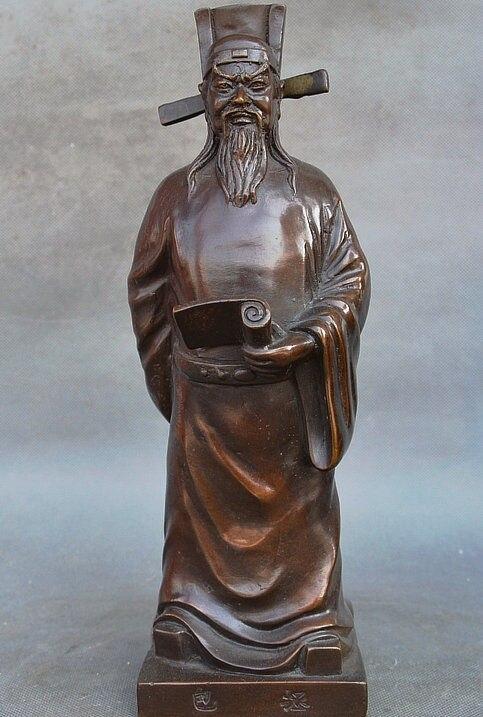 12 China Famous Purple Bronze Bao Zheng politician Official Officeholder Statue12 China Famous Purple Bronze Bao Zheng politician Official Officeholder Statue
