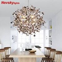 Подвесные светильники из нержавеющей стали в гостинную led люстра потолочная для кухни подвесные светильники в спальню светодиодный светил