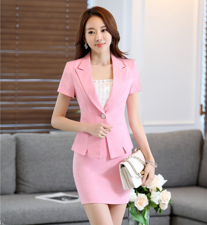 Pink Skirt Suits 75