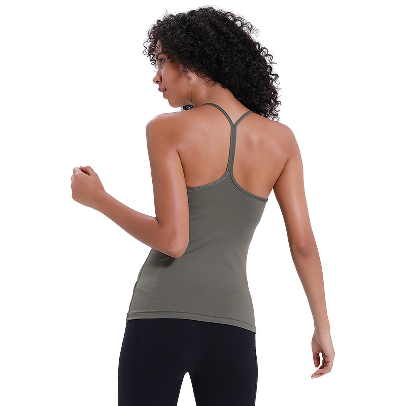 NWT Eshtanga sports tank with BUILT Bra Women's Summer Quick Dry Thick Material Breathable Top Quality Tank Tops Size XS XL