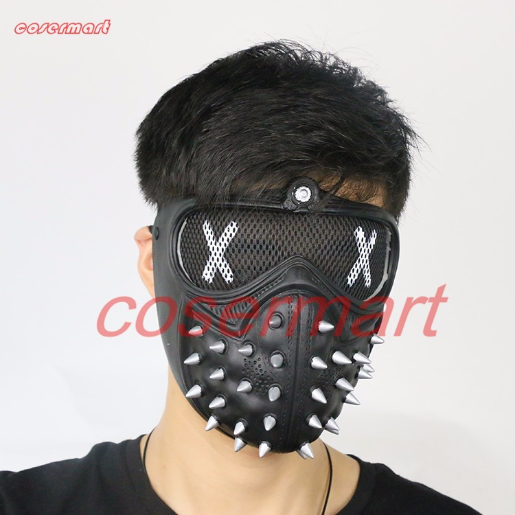 Game Cosplay Mask Watch Dogs 2 Mask Marcus Holloway Mask Casual Tangerine Mask Halloween Party Prop (10)