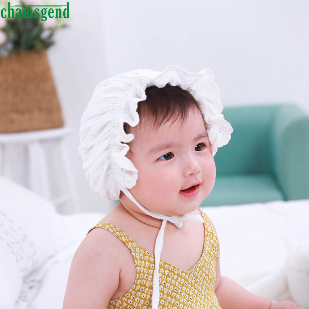 hot sweet lovely cute princess children kids girls baby hat lace hat