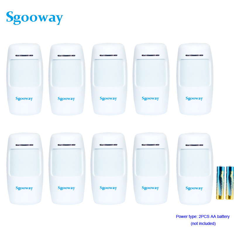 Sgooway Wireless Infrared PIR sensor Wireless Motion Detector 10 Pieces Free shipping 433 MHZ(China)