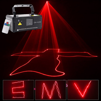 Sharelife Mini 200mw Red Color DMX Laser Scan Light PRO DJ Home Party Gig Beam Effect Stage Lighting Remote Music DM-R200