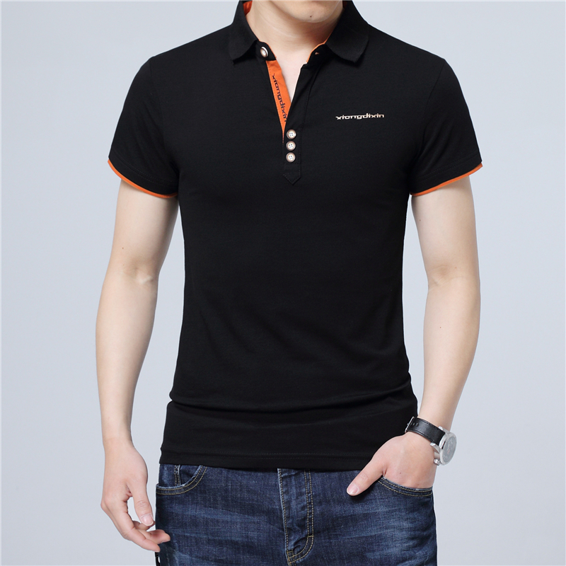 ARCSINX Slim Fit <font><b>Polo</b></font> <font><b>Shirt</b></font> <font><b>Men</b></font> <font><b>Big</b></font> <font><b>Size</b></font> 5XL 4XL 3XL Short Sleeve Summer <font><b>Men</b></font> <font><b>Polo</b></font> <font><b>Shirt</b></font> White Cotton <font><b>Men</b></font> <font><b>Polos</b></font> Plus <font><b>Size</b></font> <font><b>Polos</b></font> image