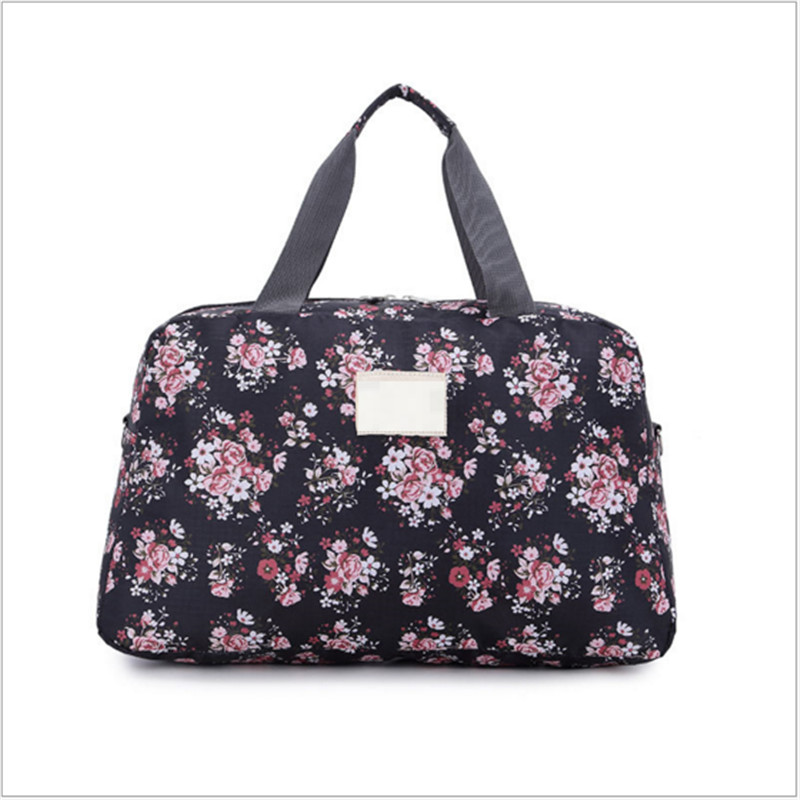 Sport-Bag Totes Duffel Travel-Luggage Multifunction Women Floral Gym Large-Capacity Lady