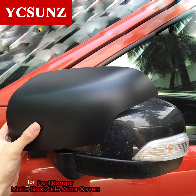 For Ford Ranger T6 Accessories ABS Black Mirror Covers Suitable Ford Ranger Wildtrak T6 2012 2013 2014 2015 Parts New Ranger T6