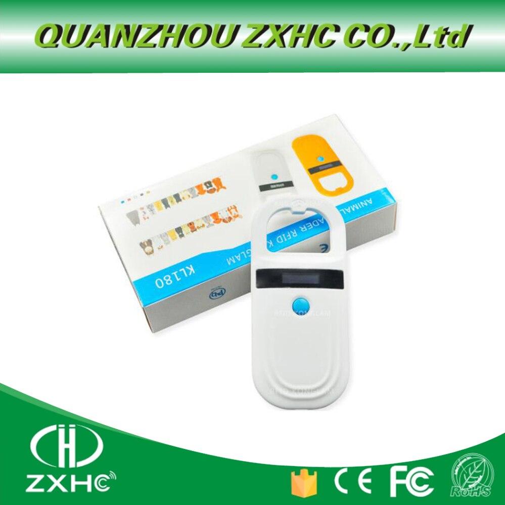 Nouveau lecteur de carte tenu dans la main Animal RFID 134.2 Khz scanner de puce pour animaux de compagnie étiquette de lecture FDX-B et EMID pour chiens ou chats