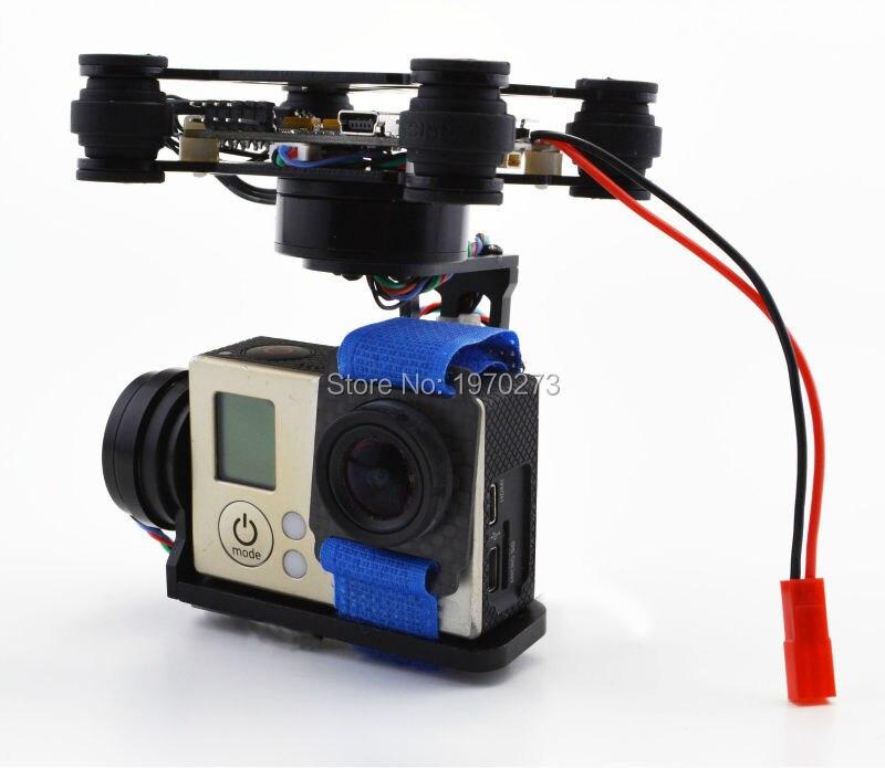 RTF 3 axes support de caméra à cardan sans brosse et 2204 260kv 2805 140kv moteur et Strom32 carte de contrôleur de cardan pour Gopro 3 4