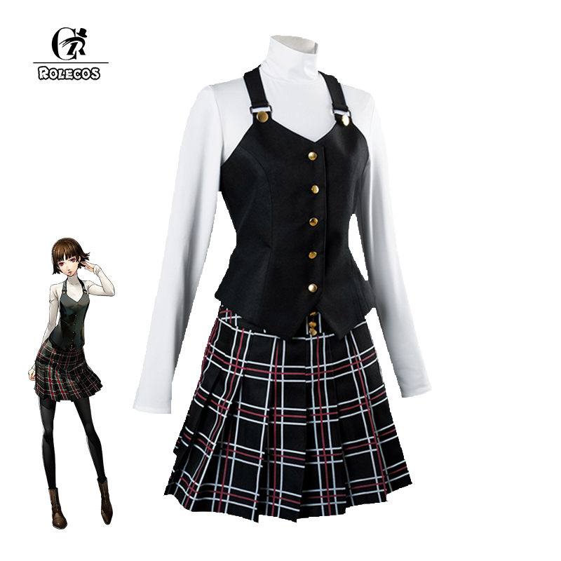 ROLECOS Game Persona 5 Cosplay Costume Makoto Niijima Cosplay Costume Persona 5 the Animation Niijima Makoto Women Cosplay