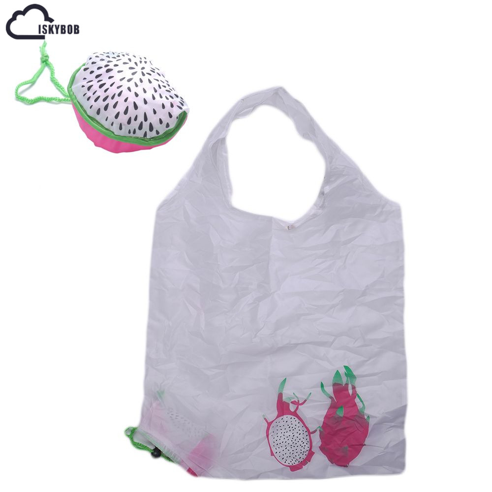 New Foldable fruit Shopping Bag Waterproof Folding Shopping Bag Eco Foldable Reusable Handbag new style cartoon fruit lemon eco bag useful nylon foldable reusable shopping bags