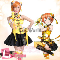LoveLive! Love Live Hoshizora Rin Chinoiserie Cheongsam Tube Tops Fancy Dress Uniform Outfit Anime Cosplay Costumes