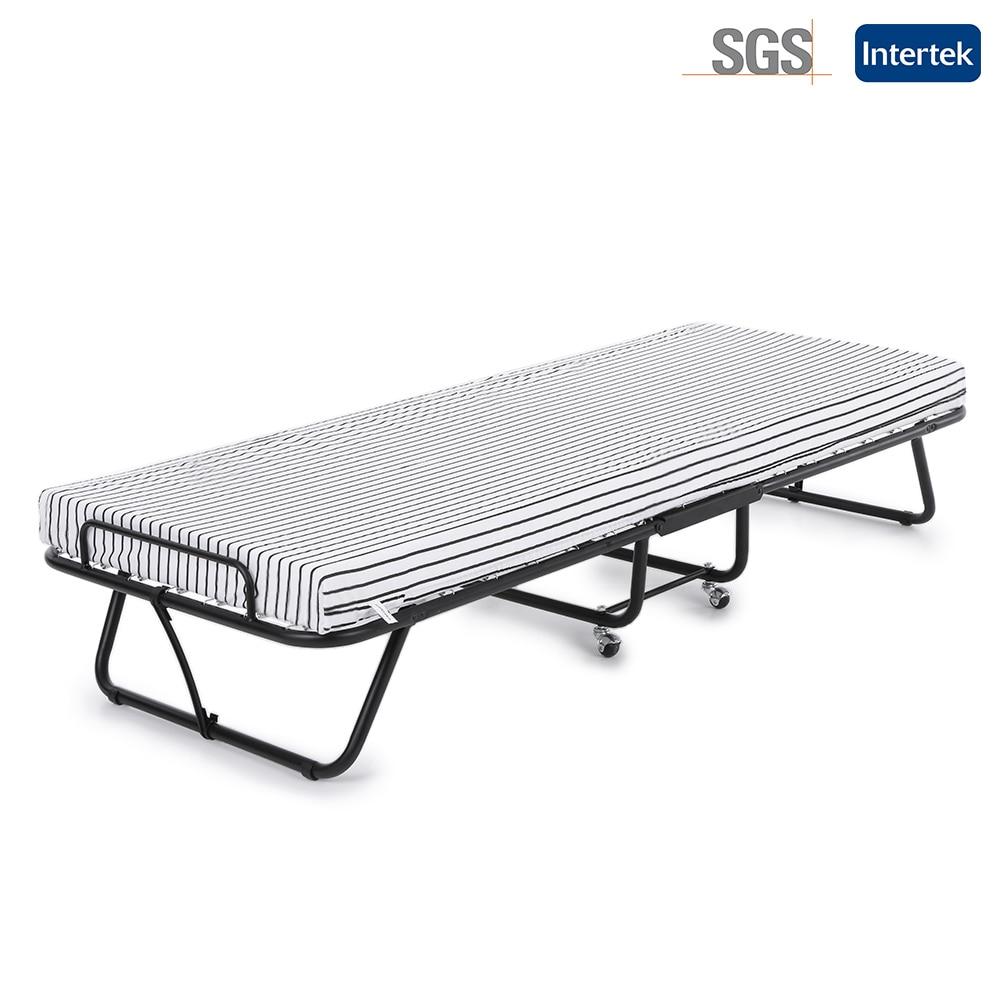 - IKayaa US Stock Metal Folding Bed Frame Rollaway Single Guest Bed Cot With  Mattress +SGS Intertek Test Ranza Bedroom Furniture|bed Frame|bedroom  Furniturefolding Bed Frames - AliExpress