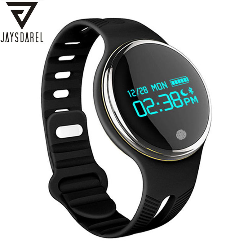 JAYSDAREL E07 Heart Rate Monitor Smart Watch OLED Fitness Sports Waterproof IP67 Bracelet Smart Wristwatch for Android iOS