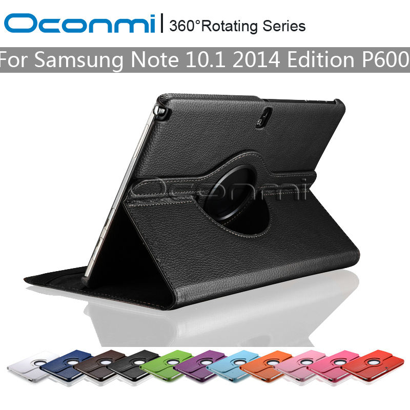360 Rotating PU Leather cover case for Samsung Galaxy Note 10.1 2014 Edition with stand function SM-P600 SM-P601 Tablet cover remax protective pu leather case cover w visual window for samsung galaxy note 3 n9000 black