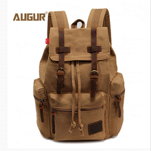 New Casual Canvas Men Backpack Retro Vintage Male Students School Bags Outdoor Man Women Shoulder Bags стоимость