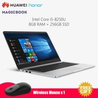 Original HUAWEI Honor MagicBook Laptop Intel Core i5 8250U 8GB RAM 256GB SSD Type C Notebook