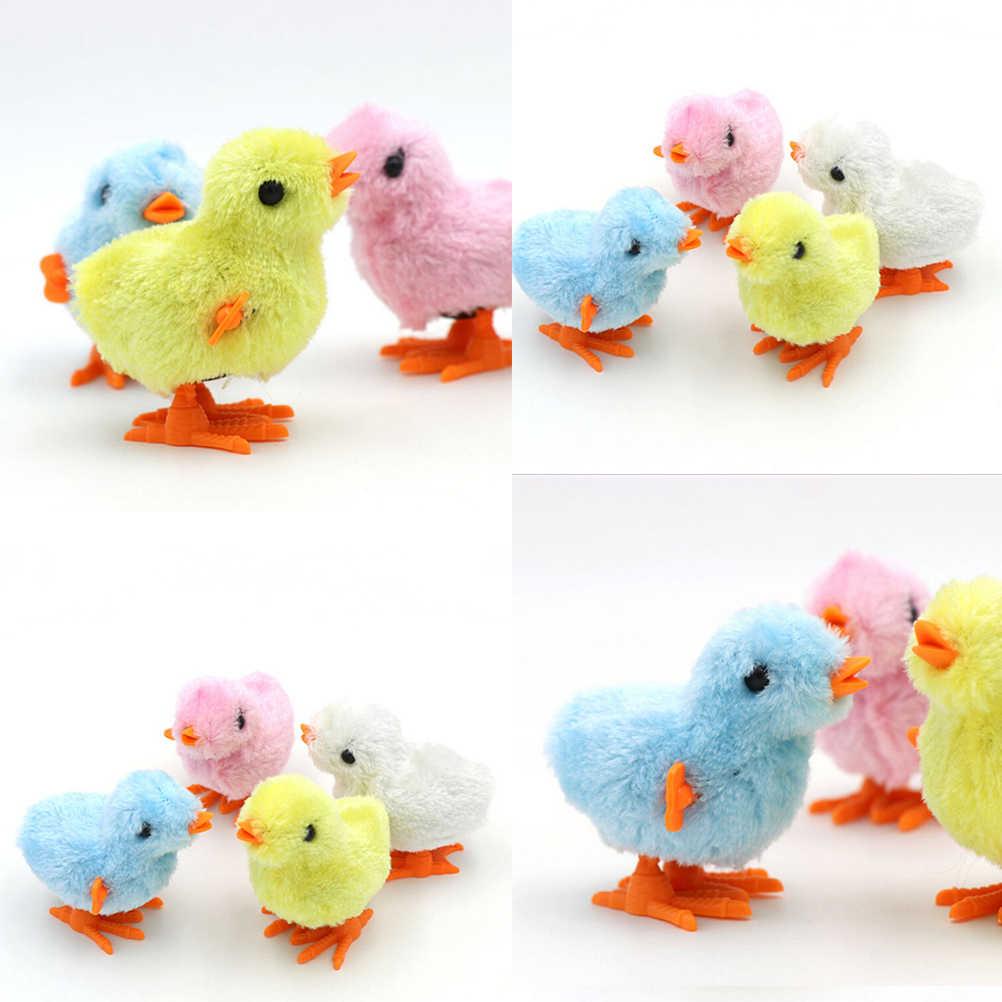 8 سنتيمتر * 7 سنتيمتر Kawaii الفرخ القفز الدجاج للأطفال ألعاب تعليمية يختتم الفرخ لعبة سلسلة الملونة سوف تعمل على عقارب الساعة