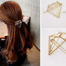 geometric Shape Hairpins Princess Crown Tiara Girl Hair Pins Hollow Metal Hairpin Women Jewelry Accessories