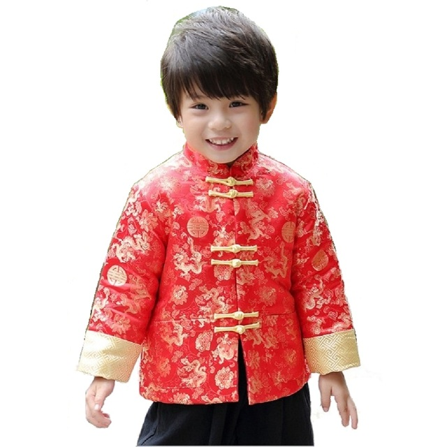 ed1d2faa7f69 Dragon Baby Boys Coat Tang Suit China Garments Dress Costumes Boy ...
