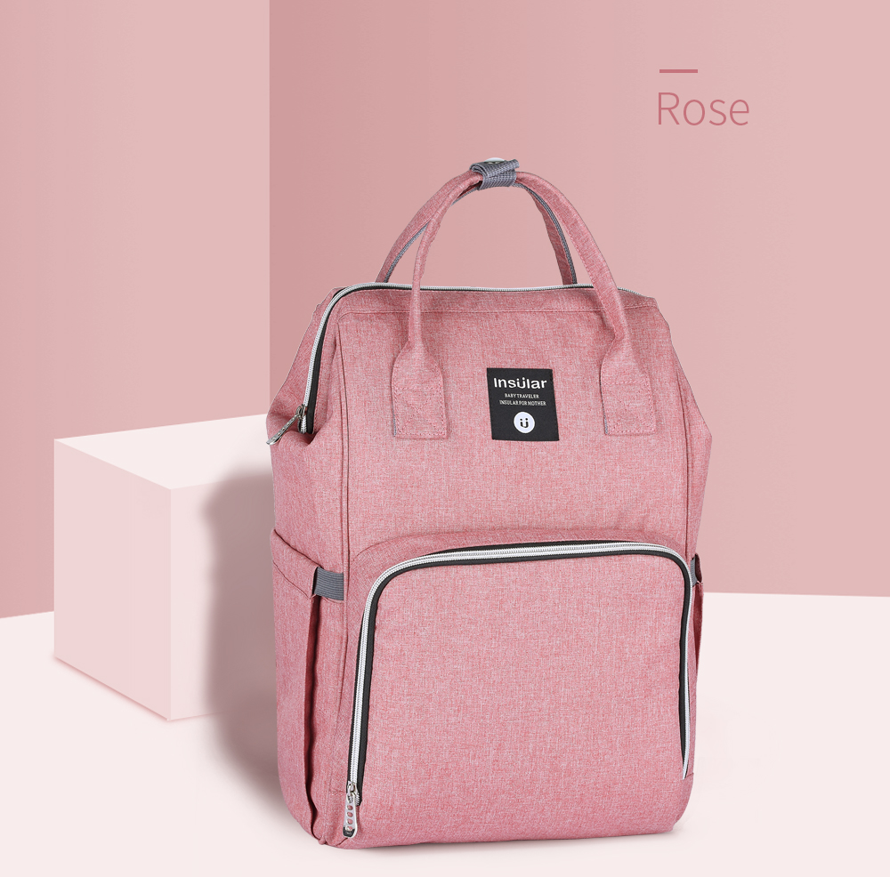 HTB14zo7cRKw3KVjSZFOq6yrDVXa4 Insular Brand Nappy Backpack Bag Mummy Large Capacity Stroller Bag Mom Baby Multi-function Waterproof Outdoor Travel Diaper Bags