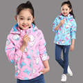 De los niños niño ropa femenina prendas de vestir exteriores 2016 de primavera y otoño niño niña, además de terciopelo engrosamiento niño chaqueta al aire libre