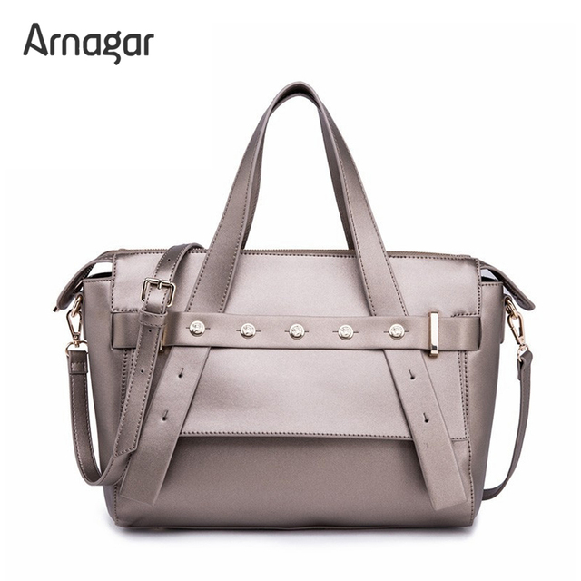 New Luxury Famous brands Designer women leather handbags high quality ladies rivets tote bag luxury handbags women bags designer