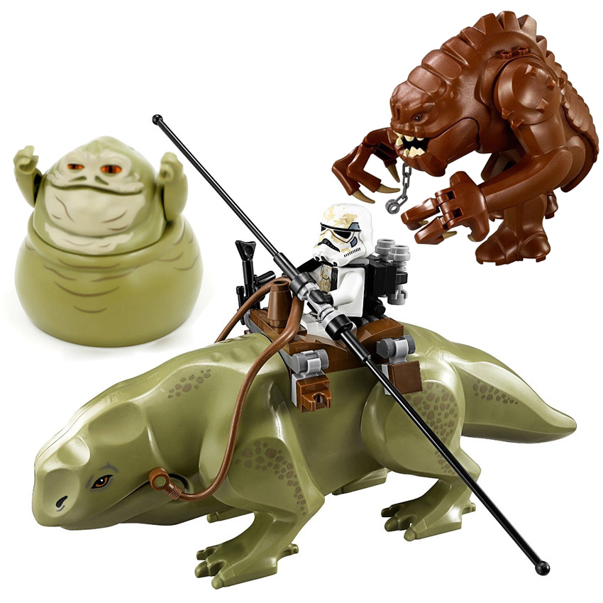 Single Sale Rancor Star Wars Block Building Blocks Starwars Set Models Cartoon Toys For Children Dewback Figure Jabba Model